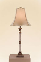 Currey & Company Crystal Springs 1 Light Table Lamp in Bronze / Crystal 6647