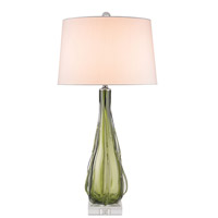 Zephyr 34 inch 150 watt Green and Clear Table Lamp Portable Light