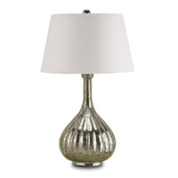 Currey & Company Libertine 1 Light Table Lamp in Antique Mercury 6678