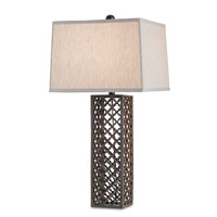 Currey & Company Madera 1 Light Table Lamp in Natural Rust 6679