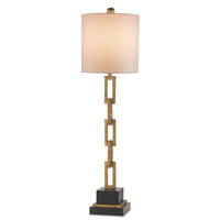Bismark 36 inch 100 watt Gold Leaf/Black Table Lamp Portable Light