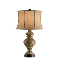 Currey & Company Savory 1 Light Table Lamp in Sedona Brown 6707