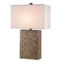 Currey & Company Santiago 1 Light Table Lamp in Nevo Oro Antico Gold 6766