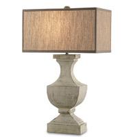 Currey & Company Greta 1 Light Table Lamp in Washed Buff 6767