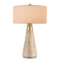 Currey & Company Babylon 1 Light Table Lamp in Aged and Brass 6771