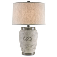 Currey & Company Madura 1 Light Table Lamp in Charcoal Brown 6778
