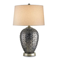 Currey & Company Medea 1 Light Table Lamp in Gray/Silver 6780