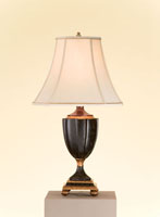 Currey & Company Celebration 1 Light Table Lamp in Red/Black/Gold 6784