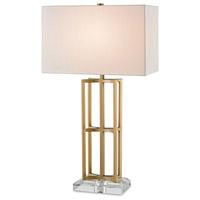 Currey & Company 6801 Devonside 29 inch 100 watt Coffee Brass Table Lamp Portable Light