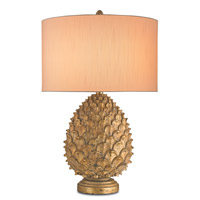 Royale 32 inch 150 watt Anti Gold Leaf Table Lamp Portable Light