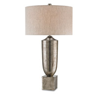 Currey & Company Silversmith 1 Light Table Lamp in Antique Nickel 6832
