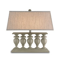 Currey & Company Balcony 2 Light Table Lamp in Stone Gray 6842