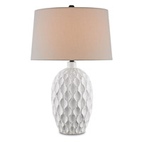 Currey & Company Tazetta 1 Light Table Lamp in Antique White 6843