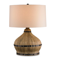 Currey & Company Farmhouse 1 Light Table Lamp in Natural 6845