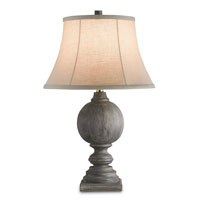 Currey & Company Mogul 1 Light Table Lamp in Vintage Steel 6848