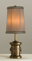Currey & Company Justine 1 Light Table Lamp in Brass 6850