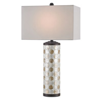 Currey & Company Seafair 1 Light Table Lamp in Bronze Gold and Natural 6867