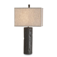 Currey & Company Caravan 1 Light Table Lamp in Mole Black 6868