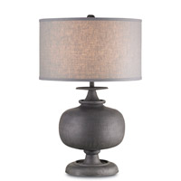 Currey & Company Lino 1 Light Table Lamp in Antique Gray 6884