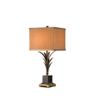 Currey & Company Killarny 1 Light Table Lamp in Antique Brass/Black 6901