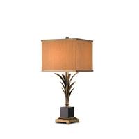 Currey & Company Killarny 1 Light Table Lamp in Antique Brass/Black 6901 photo thumbnail