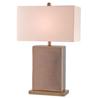 Currey & Company Brianne 1 Light Table Lamp in Gold / Antique Brass with Honey Beige Shantung 6914