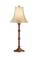 Allure  30 inch 100 watt Red/Gold Table Lamp Portable Light