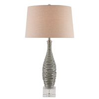 Currey & Company Trieste 1 Light Table Lamp in Gray and Clear 6929