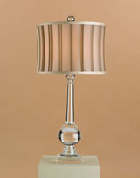 Currey & Company Rainwater 1 Light Table Lamp in Crystal 6930