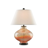 Currey & Company Pezzato 1 Light Table Lamp in Art Glass w/ Patina 6933