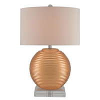 Currey & Company Sunngside 1 Light Table Lamp in Gold and Clear 6934