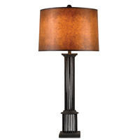 Currey & Company Rufus 1 Light Table Lamp in Mole Black 6949