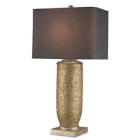 Currey & Company Gladwyne 1 Light Table Lamp in Gold Leaf and Antique Silver Leaf 6959