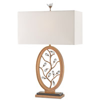Currey & Company Meadowsweet 1 Light Table Lamp in Antique Brass and Black 6971