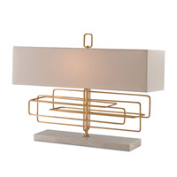 Currey & Company Metro 1 Light Table Lamp in Contemporary Gold Leaf 6976