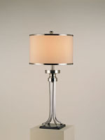 Currey & Company Journey 1 Light Table Lamp in Nickel/Black 6978