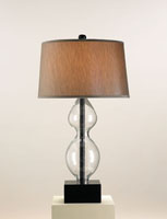 Currey & Company Leimotif 1 Light Table Lamp in Blown Glass/Black 6980
