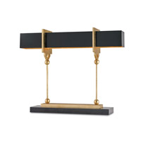 Currey & Company Apropos 4 Light Table Lamp in Satin Black and Contemporary Gold Leaf and Black 6994