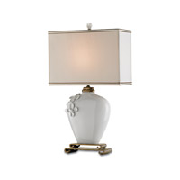 Currey & Company Minuet 1 Light Table Lamp in White 6995