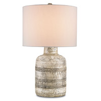 Currey & Company Paolo 1 Light Table Lamp in Wash White 6998