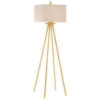 Akimbo 69 inch 150 watt Contemporary Gold Leaf Floor Lamp Portable Light
