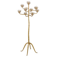 Agave Americana 72 inch 60 watt Contemporary Gold Leaf Floor Candelabra Portable Light