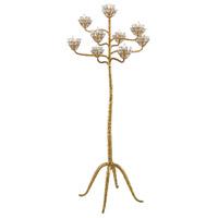 Currey & Company 8000-0045 Agave Americana 72 inch 60 watt Contemporary Gold Leaf Floor Candelabra Portable Light Marjorie Skouras Collection