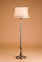 Currey & Company Melrose 1 Light Floor Lamp in Antique Silver Leaf 8004