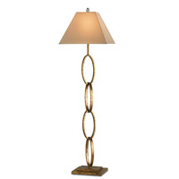 Currey & Company Bangle 1 Light Floor Lamp in Gold Leaf 8022
