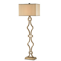 Currey & Company Eternity 1 Light Floor Lamp in Antique Silver Leaf 8028