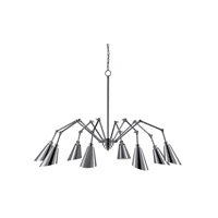 Garamond 8 Light 71 inch Chrome Chandelier Ceiling Light