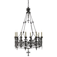 Porte de Fer 8 Light 30 inch Molé Black Chandelier Ceiling Light