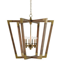 Bastian 6 Light 37 inch Chestnut / Brass Chandelier Ceiling Light