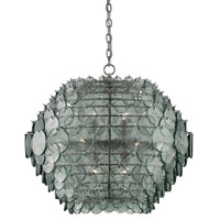 Currey & Company 9000-0009 Braithwell 14 Light 30 inch Painted Silver Granello Chandelier Ceiling Light